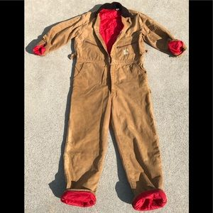 Vintage CARHARTT Insulated Work Coveralls 44R USA